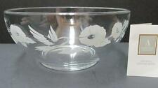 "Avon Hummingbird Collection Crystal 8"" Serving Bowl"