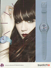 Publicité Advertising 2011 montre SWATCH collection mode bijoux accessoire