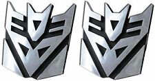 Set of 2 3D Logo Transformers Decepticons Megatron Self Adhesive Car Emblem 4""