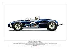 Stirling MOSS, 1961 MONACO GRAND PRIX vincitore Arte Poster A2 SIZE