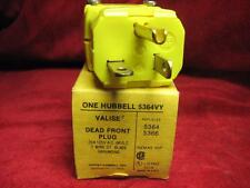 Hubbell 20a Dead Front Plug 125v 3 Wire Grounding Part # 5364VY 5364 5366