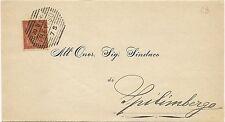 P5833   Treviso, annullo nominale a sbarre 1892 per Spilimbergo