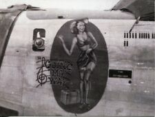 POST CARD OF WORLD WAR II BOMBER WITH RISQUE GOING MY WAY PAINTED ON THE SIDE