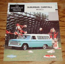 1965 Chevrolet Trucks Suburban Carryall Models Sales Brochure 65 Chevy