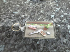 Resident Evil Survival Kit Jumbo Keyring. NEW. Green & Red Herb etc. Umbrella