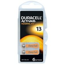 60x New Duracell Activair EASY TAP Hearing Aid Battery Size 13 Zinc Air Battery