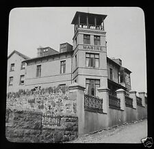 Glass Magic lantern slide CRICCIETH - MARINE HOTEL C1910 WALES
