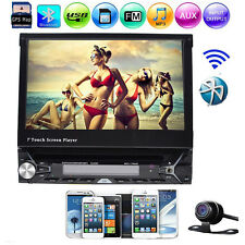 Autoradio Radio De Coche Bluetooth SD USB Navigation GPS 1Din DVD Player Estéreo