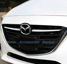 New Chrome Front Grille Trim for Mazda 3 M3 Axela 2014 2015 2016 Sedan Hatchback
