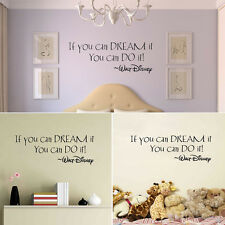 If You Can Dream It Substantial Quote Wall Sticker Mural Decals Home Decoration