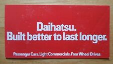 DAIHATSU Range orig 1983 UK Mkt brochure - Domino Fourtrak Charade Charmant 850