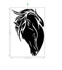 horse vinyl car sticker, decal, window ORACAL 651 b