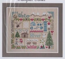 Sampler Hiver (Winter) - patchwork style cross stitch chart - Jardin Prive