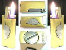 BRIQUET Ancien * SUPERLUX Badge Corse * Vintage Fuel Lighter Feuerzeug Accendino