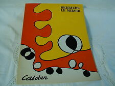 DERRIERE LE MIROIR N° 173 - OCTOBRE 1968 - CALDER