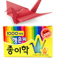 Crane Folding Papers Origami 5 x 5 cm 1000 sheets 20 colors