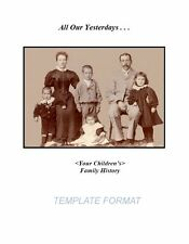 Family History document template download