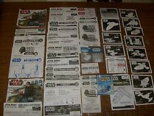 HUGE STAR WARS ORIGINAL STICKERS INSTRUCTION & CATALOG LOT ATST ATAT GUNSHIP