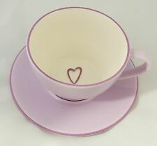 Starbucks 2006 Lavender Violet Cappuccino Latte Coffee Mug Cup & Saucer New