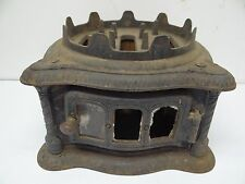 Antique Black Metal 1880 Res Out #3 Home Miniature Stove Burner Kerosene? Parts