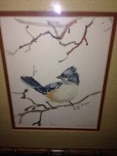 Tufted Titmouse, Artist Polly Shroyer Signed And Numbered Watercolor Print