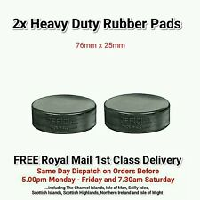 2 x Hydraulic Trolley Jack/Axle Stand Heavy Duty Rubber Pads - 76mm x 25mm