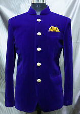 Men New Designer Wedding Jodhouri Dinner Nehru Collar Bridal Velvet Coat Jacket