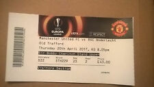 TICKET EUROPA LEAGUE : MANCHESTER UNITED - RSC ANDERLECHT 20-04-2017