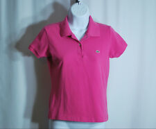 Lacoste Pink Short Sleeve Polo Shirt Woman's Sz 42 US 10