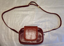 """Leather Camera Case Small Shoulder Hand Bag Purse  EXCELLENT 8"""" X 6""""   Vsack"""