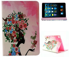 For Apple iPad Mini 1 2 3 Lady Floral Hair Design Graphic Art-Decor Case Cover