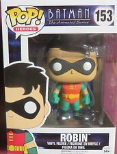 "NEW POP HEROES, FROM, ""BATMAN THE ANIMATED SERIES"", ROBIN, #153, VINYL FIGURE"