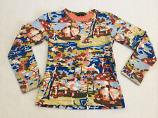Oilily 128 6 7 8 Woodland Deer Fawn Graphic Shirt Long Sleeve Forest