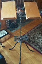 Beautiful Antique Industrial  Cast Iron & Wood  Book / Music Stand