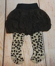 "DOLL 18"" and other close size Lace bubble skirt & leopard print tights 2pc.lot"