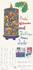 1992 MERRY CHRISTMAS & A HAPPY NEW YEAR (IN GERMAN) GERMANY COLOUR POSTCARD