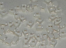 Lego Lot of 50 White Bricks Modified 1 x 1 with Headlight  Pieces