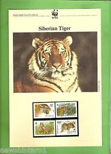 #QQ.  WWF  INFORMATION SHEETS, STAMPS & FDCs - SIBERIAN TIGER, RUSSIA