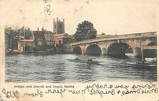 BR64076 bridge and church and angel henley    uk