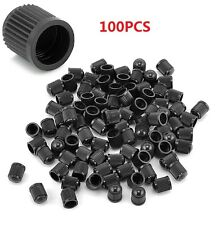 100x New Plastic Auto Car Bike Motorcycle Truck wheel Tire Valve Stem Caps Black