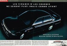 Publicité Advertising 1990 (2 pages) Honda Accord