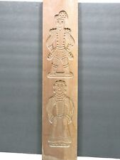 Vintage German Country Wood Springerle Speculaas Cookie Stamp Mold 20""
