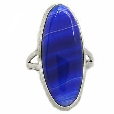 Botswana Agate 925 Sterling Silver Ring Jewelry s.9 SR197518