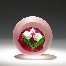 "Correia Art Glass Paperweight ""ORCHID"" LIMITED EDITION 24/200"