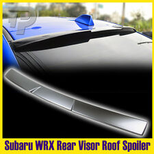 Painted G1U Ice Silver For Subaru STI WRX 4th 4DR Rear Roof Spoiler Window