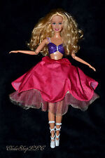 12 DANCING PRINCESSES GENEVIEVE BARBIE DOLL SKIRT SPINS LIGHTS UP