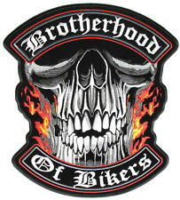 BROTHERHOOD Backpatch Aufnäher Aufbügler Biker Chopper Patch Rocker Harley 1%