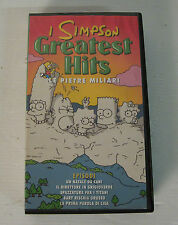 the simpson le pietre miliari 1998 vhs, rara