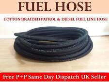 10mm-3/8'  1METRE BRAIDED RUBBER UNLEADED PETROL DIESEL FUEL LINE PIPE OIL HOSE