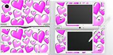 NDSi nintendo DSi - PINK HEARTS - 4 Piece - Sticker Skin vinyl